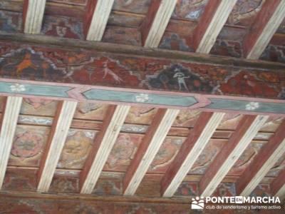 Artesonado en el Monsaterio de Silos; madroño; buitrago de lozoya; camino